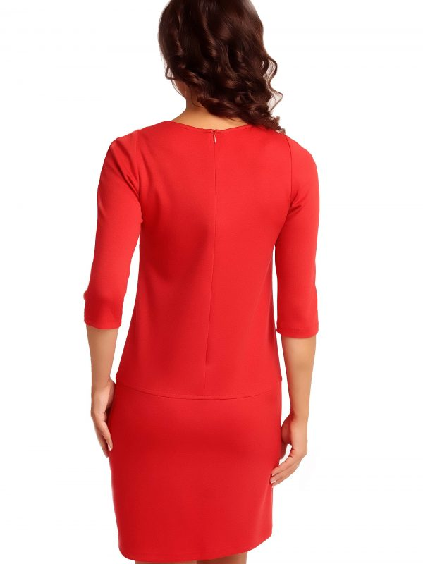 Dress ELENA TRIMMED in red