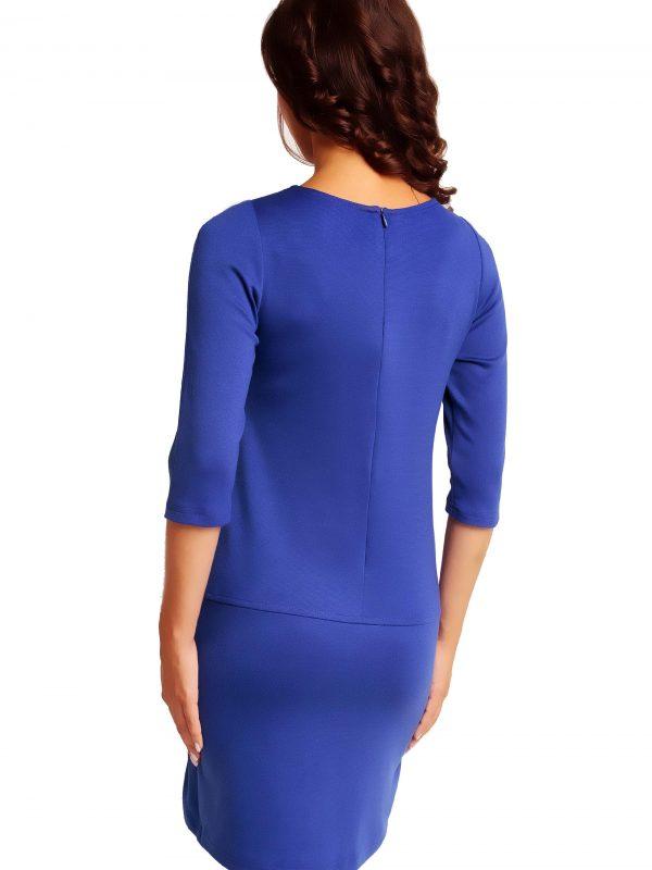 ELENA TRIMMED Sapphire Dress