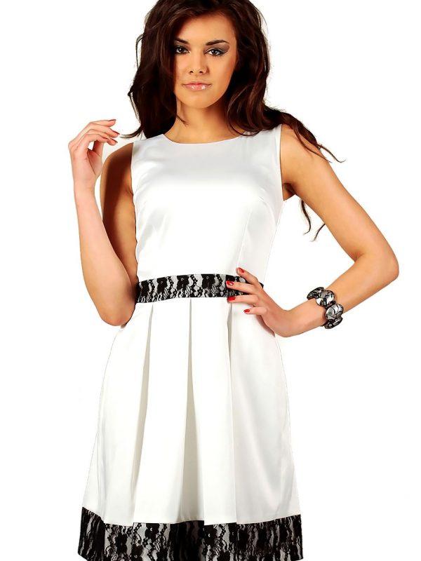 Sukienka Elodie w kolorze ecru