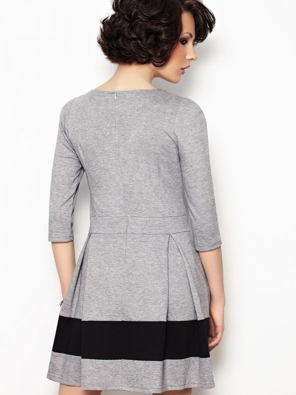 Elodie Dress in Grey