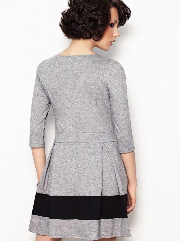 Elodie Dress in Grey