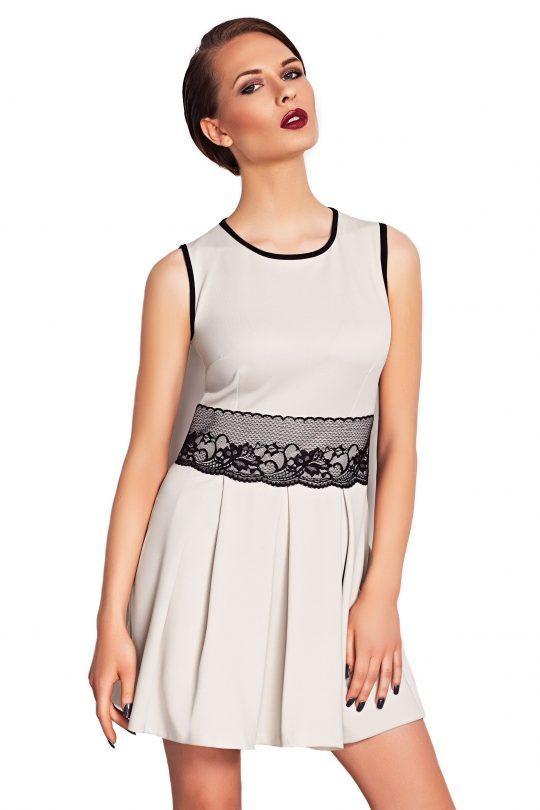 Sukienka ELODIE SOMMER w kolorze beżowym