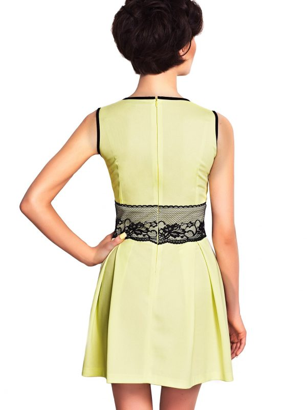 Dress ELODIE SOMMER in lime color