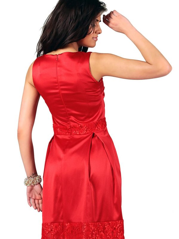 Elodie dress in red