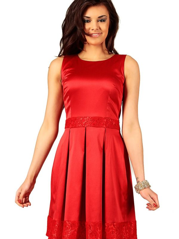 Sukienka Elodie w kolorze czerwonym