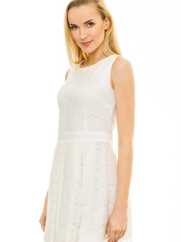 Emma dress in off white color