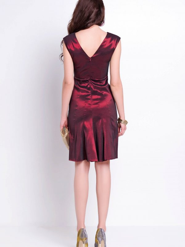Fiona dress in burgundy