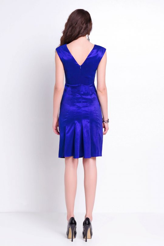 Fiona dress in cornflower blue