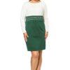 Sukienka Gabi Knittwear w kolorze zielonym z ecru
