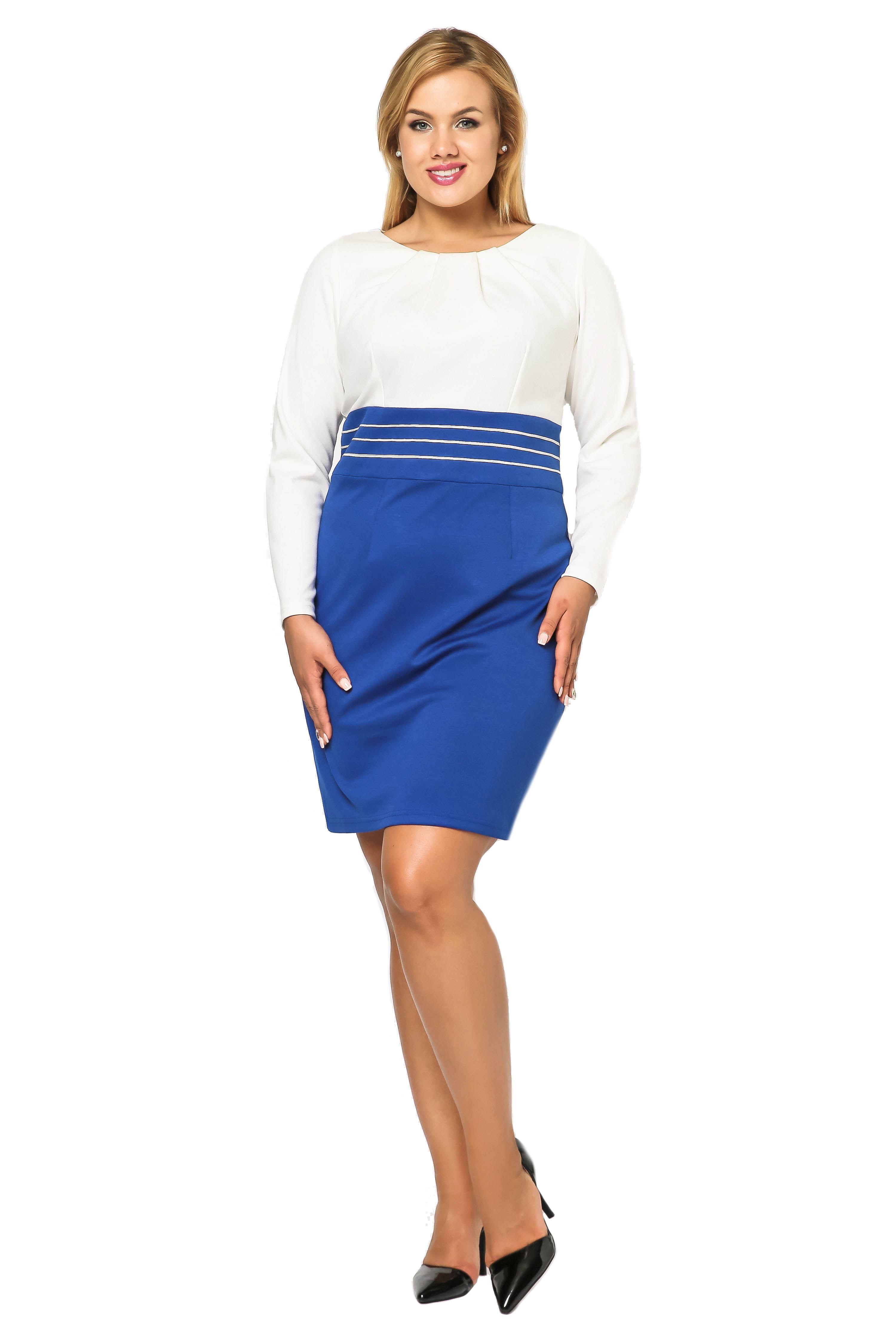 Sukienka Gabi Knittwear w kolorze chabrowym z ecru