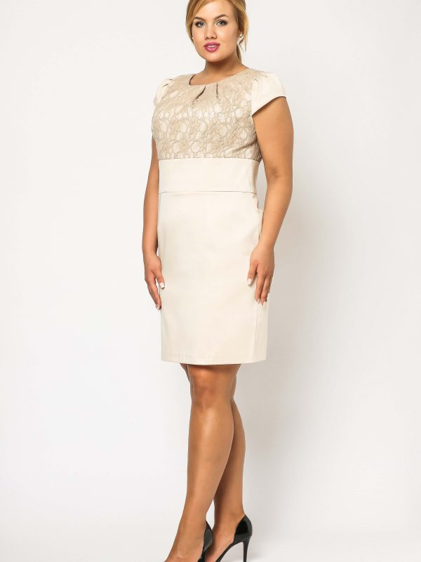 Beige Gabi Lace dress