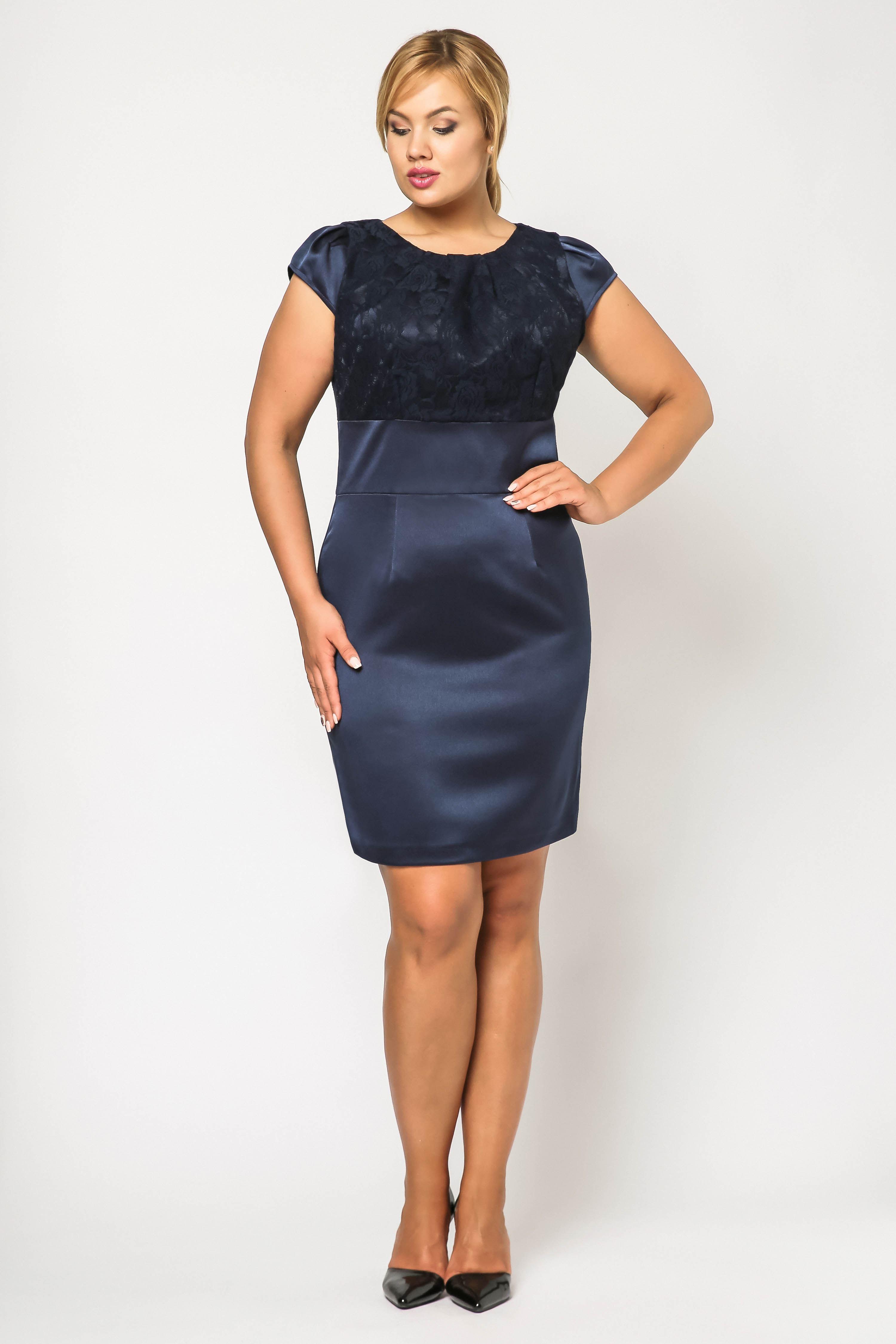 Dress Gabi Lace in navy blue
