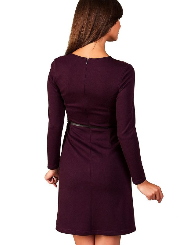 Giselle dress in plum color