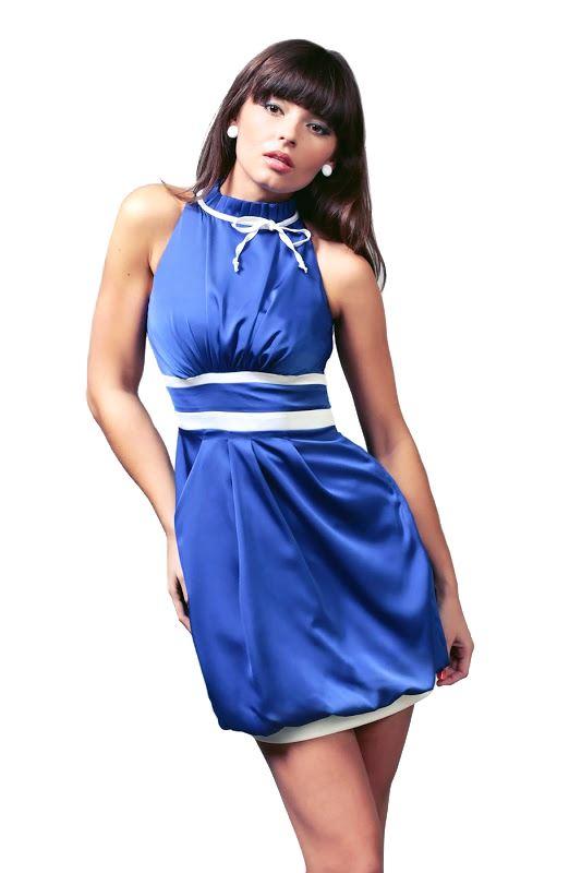 Sukienka Jacqueline w kolorze chabrowym