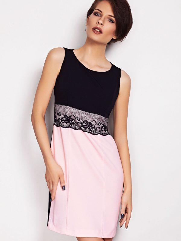 Sukienka JASMINE w kolorze pudrowym