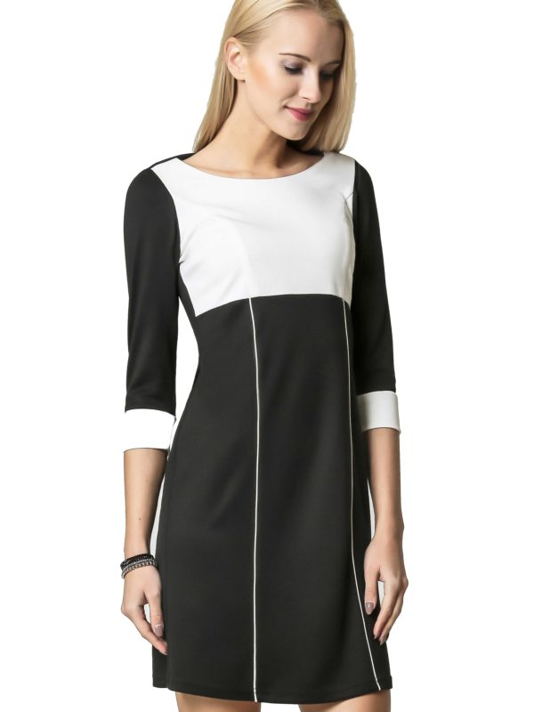 Sukienka Jeanette w kolorze czarnym z ecru