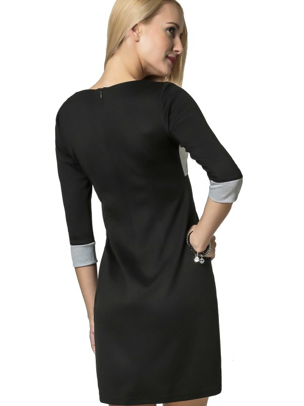 Jeanette dress in gray-black