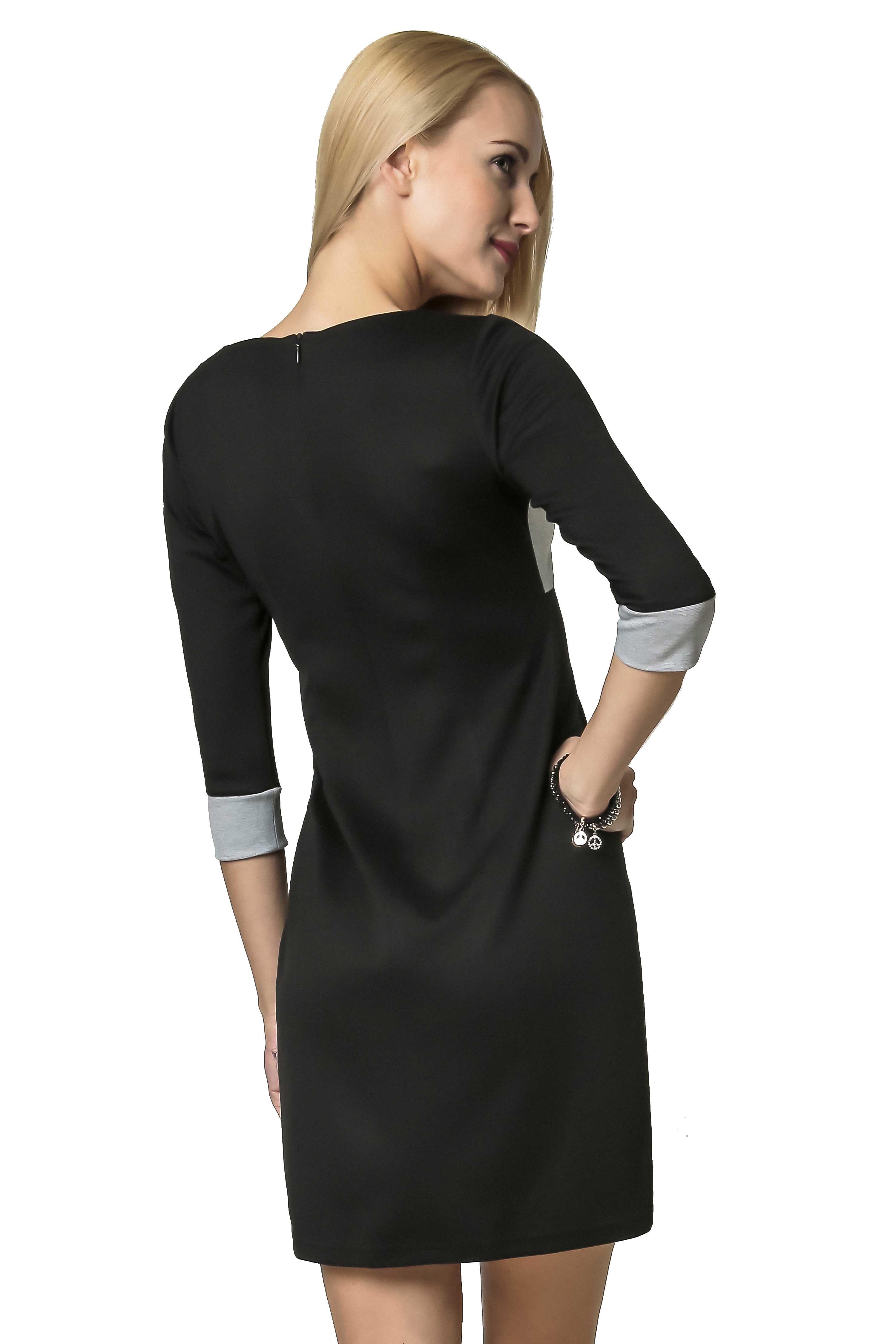 Jeanette dress in gray-black