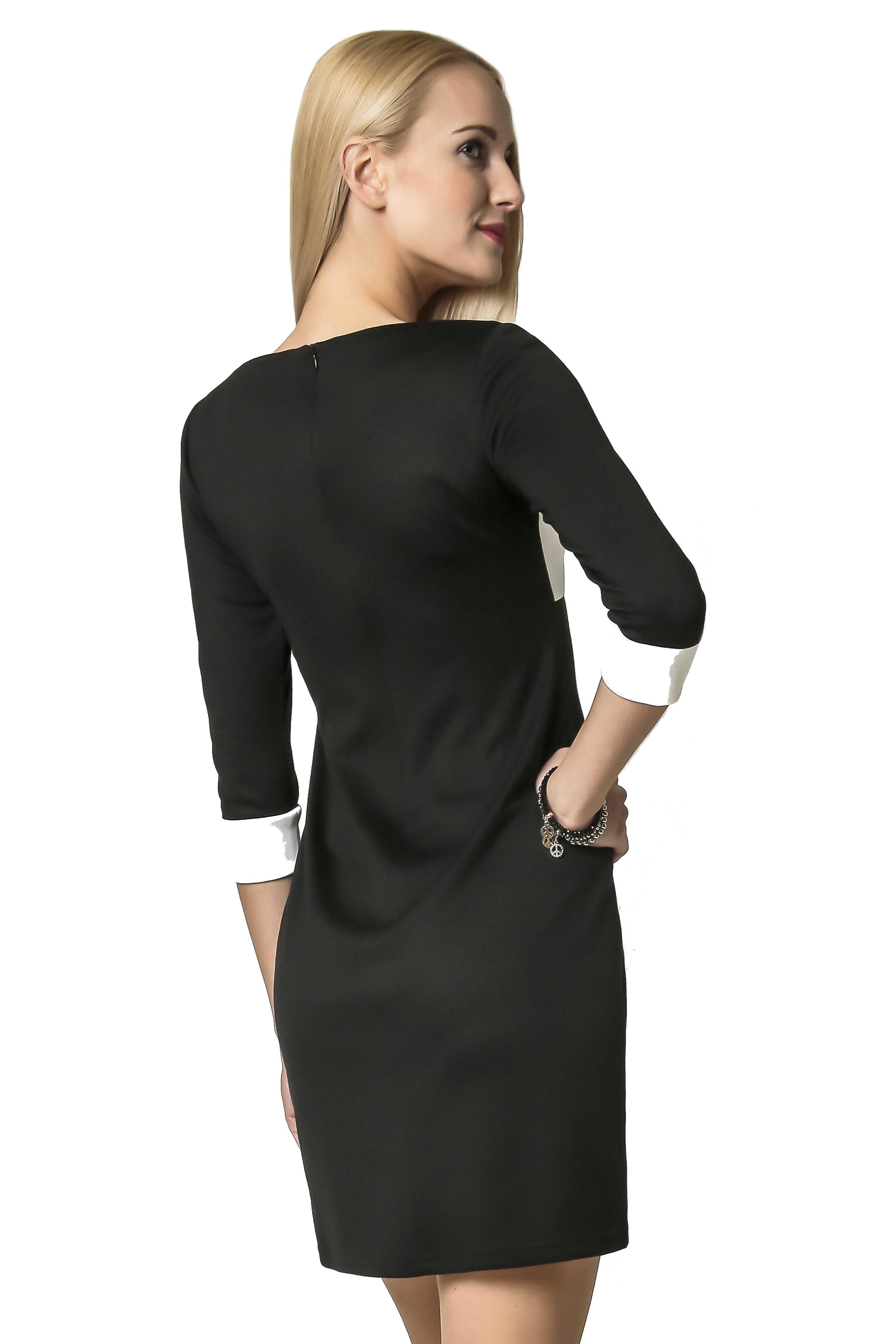 Jeanette dress in black with ecru