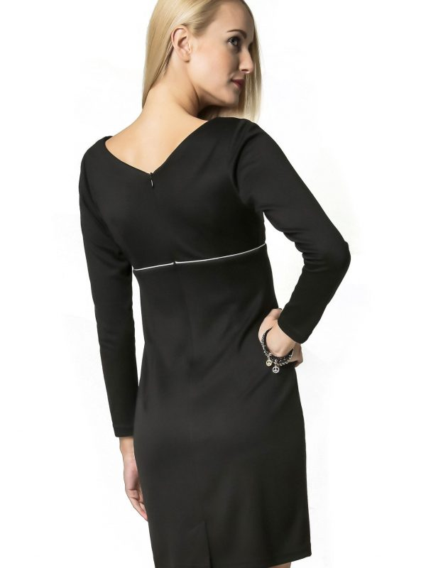 Marie Knitwear dress in black