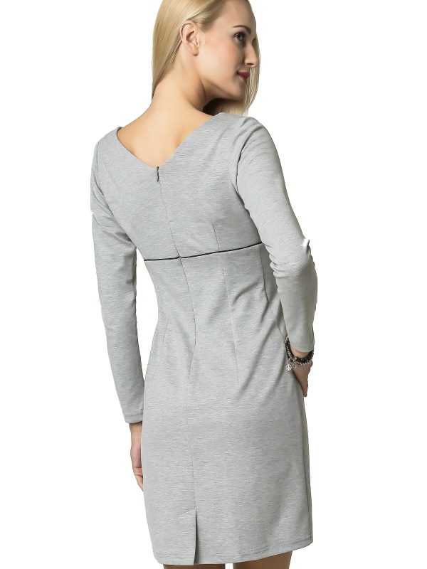 Marie Knitwear dress in gray