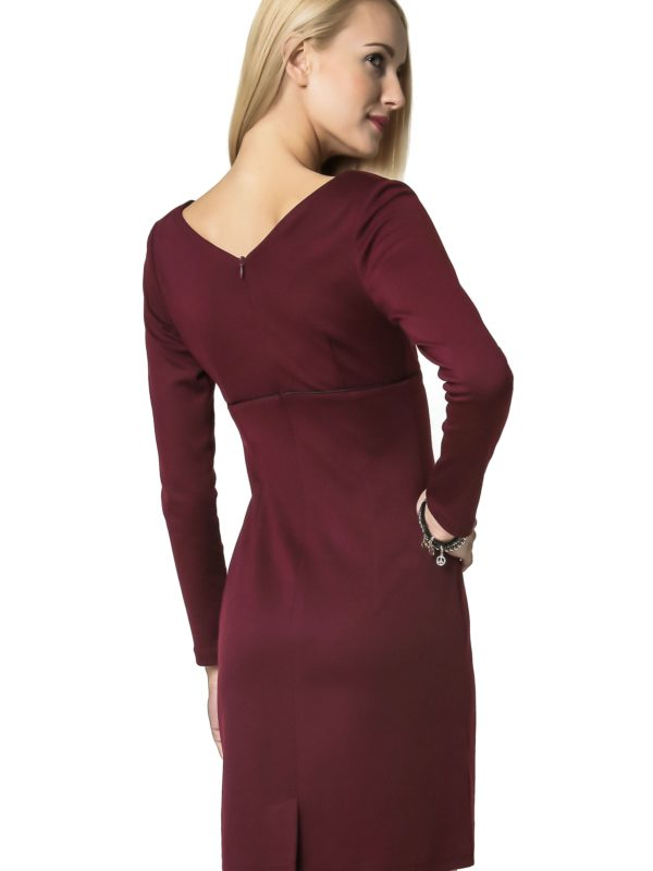 Marie Knitwear dress, burgundy