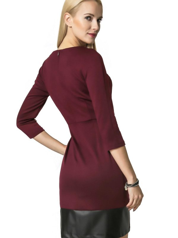 Mira dress in burgundy