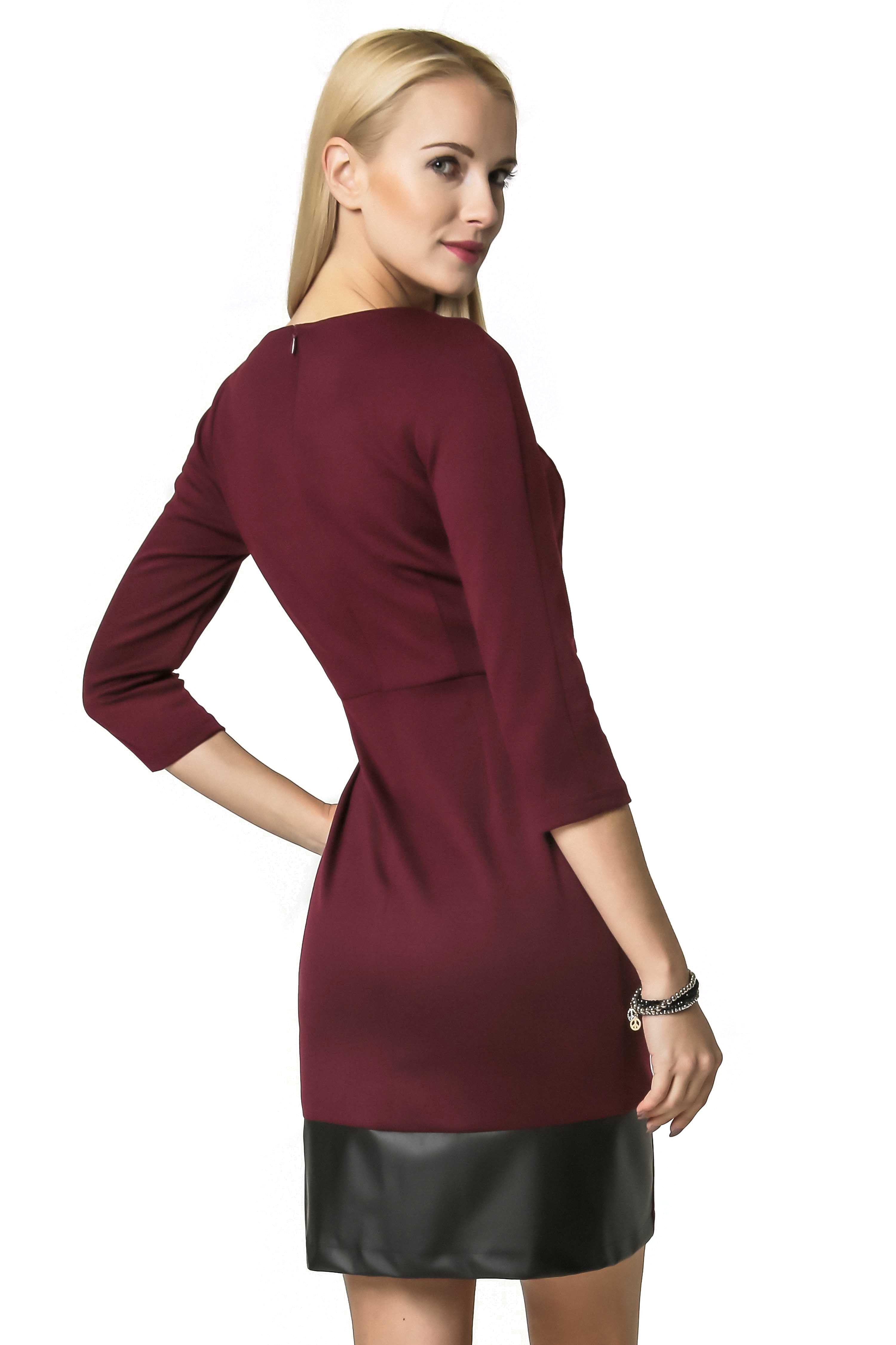 Mira dress in burgundy