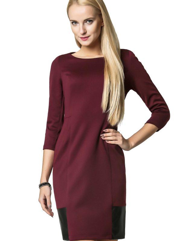 Sukienka Mira w kolorze bordowym