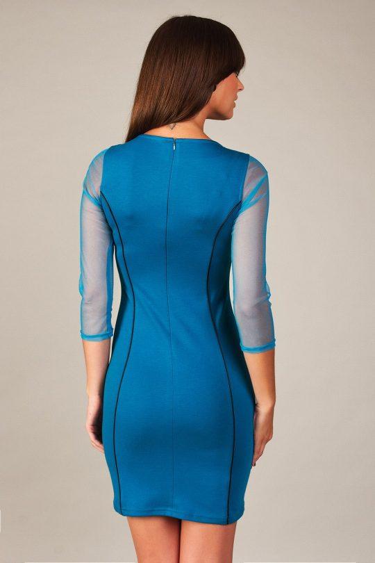 Mirelle dress in Parisian blue color