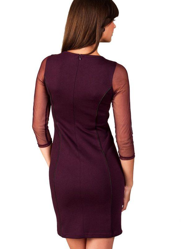 Mirelle dress in plum color