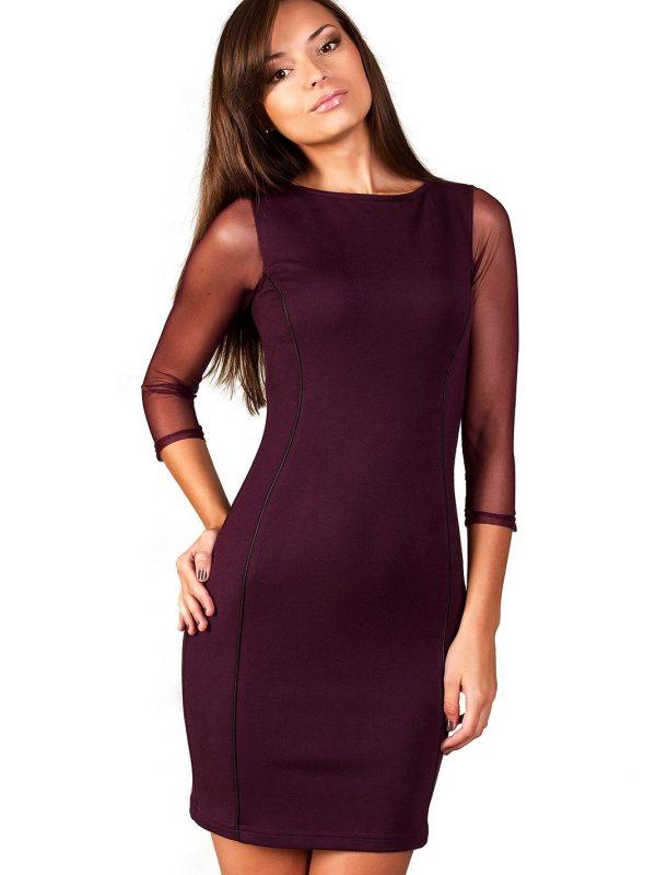 Sukienka Mirelle w kolorze śliwkowym