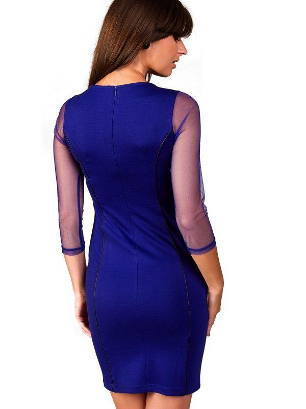 Mirelle dress in sapphire color