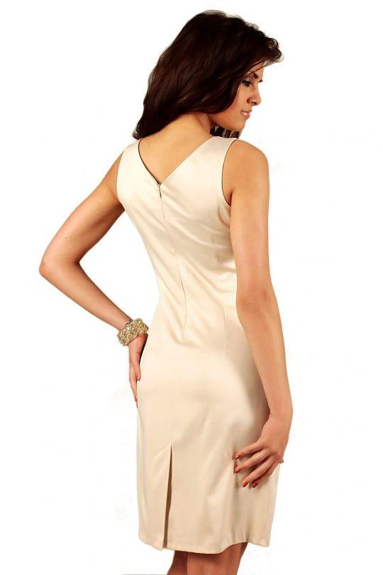 Beige Oriana dress with lace