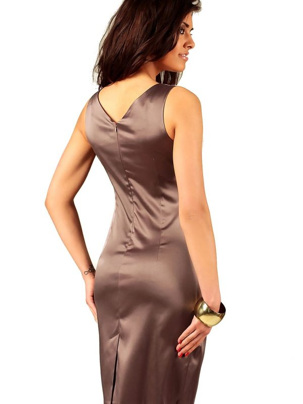 Oriana dress in cappuccino color