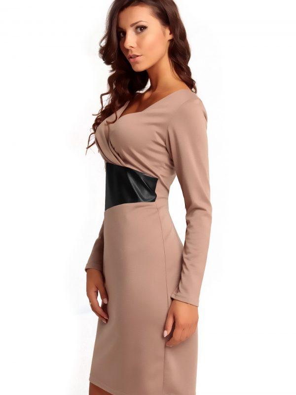 ORIANA KNITWEAR dress, beige