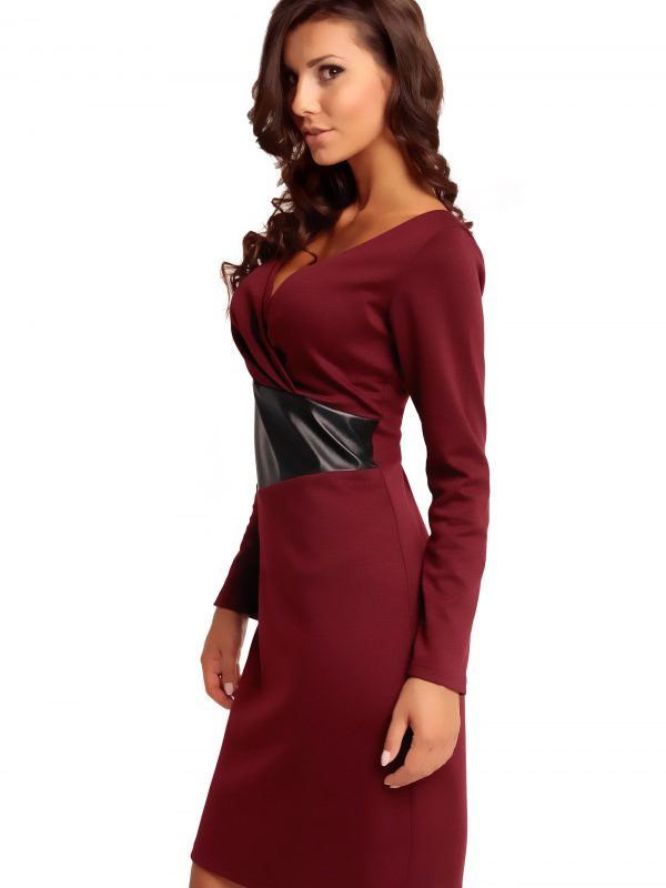 ORIANA KNITWEAR dress, claret color