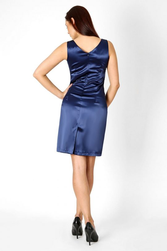 Oriana dress in navy blue