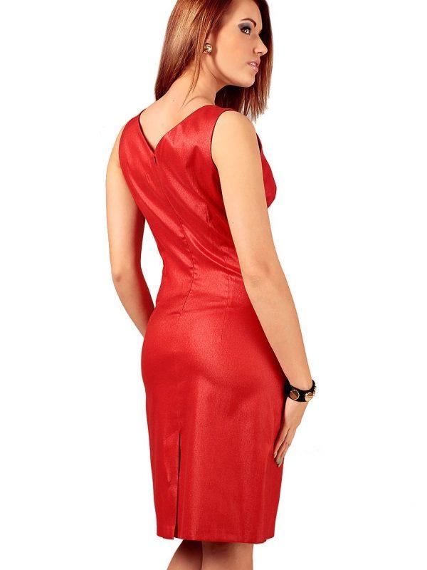Oriana dress red with black