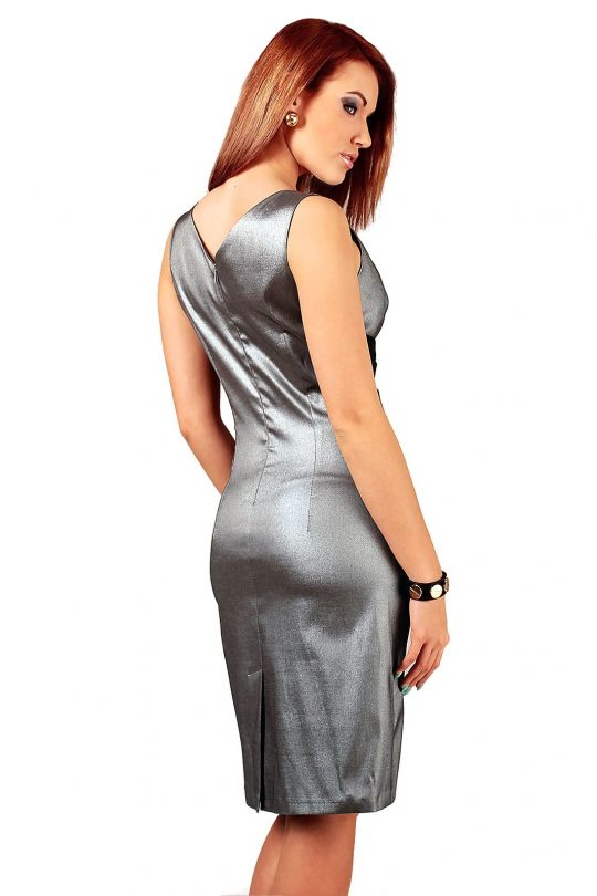 Oriana dress silver with black