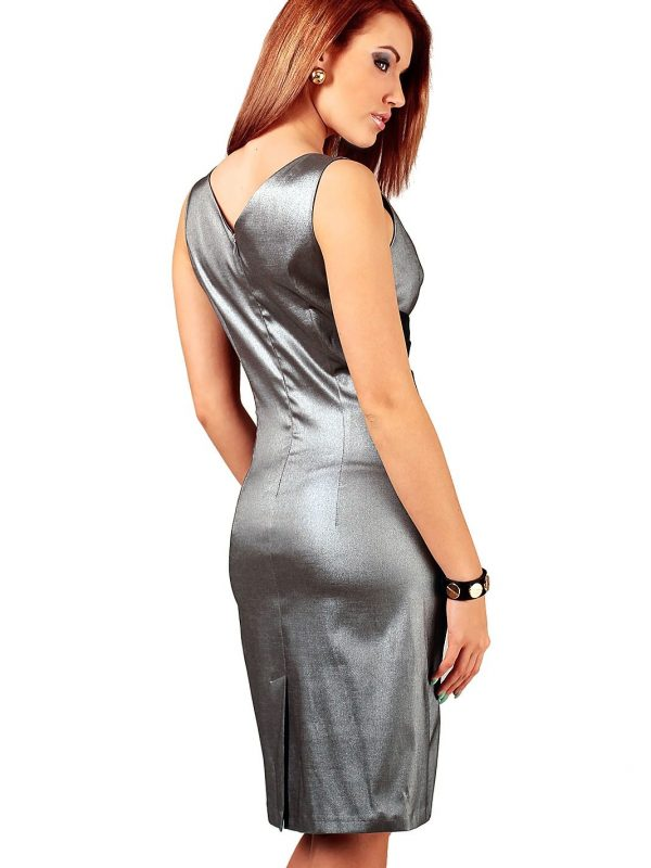 Oriana dress silver with black
