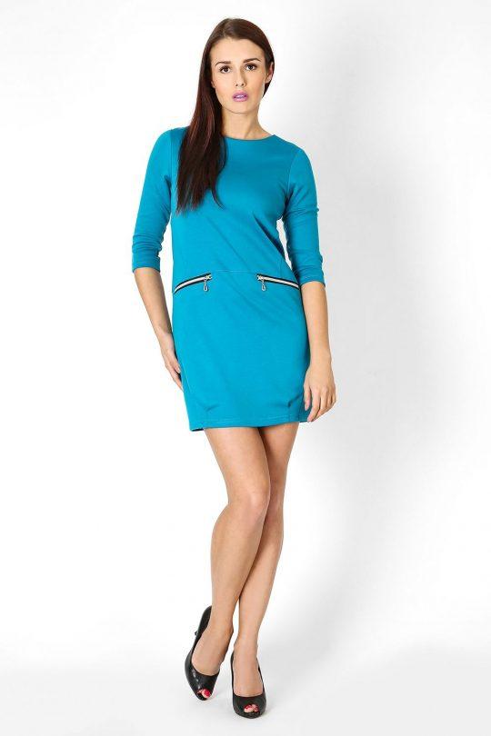 Sukienka Oxana w kolorze błękitnym
