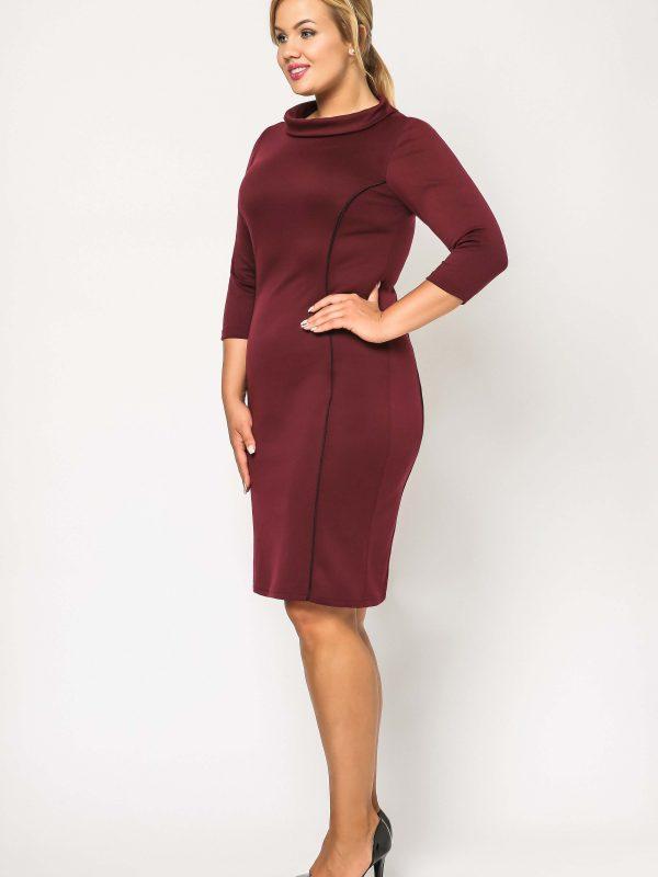 Pauline dress, burgundy