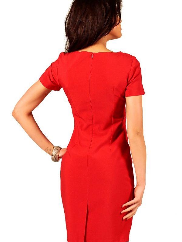 Rachel's dress in red