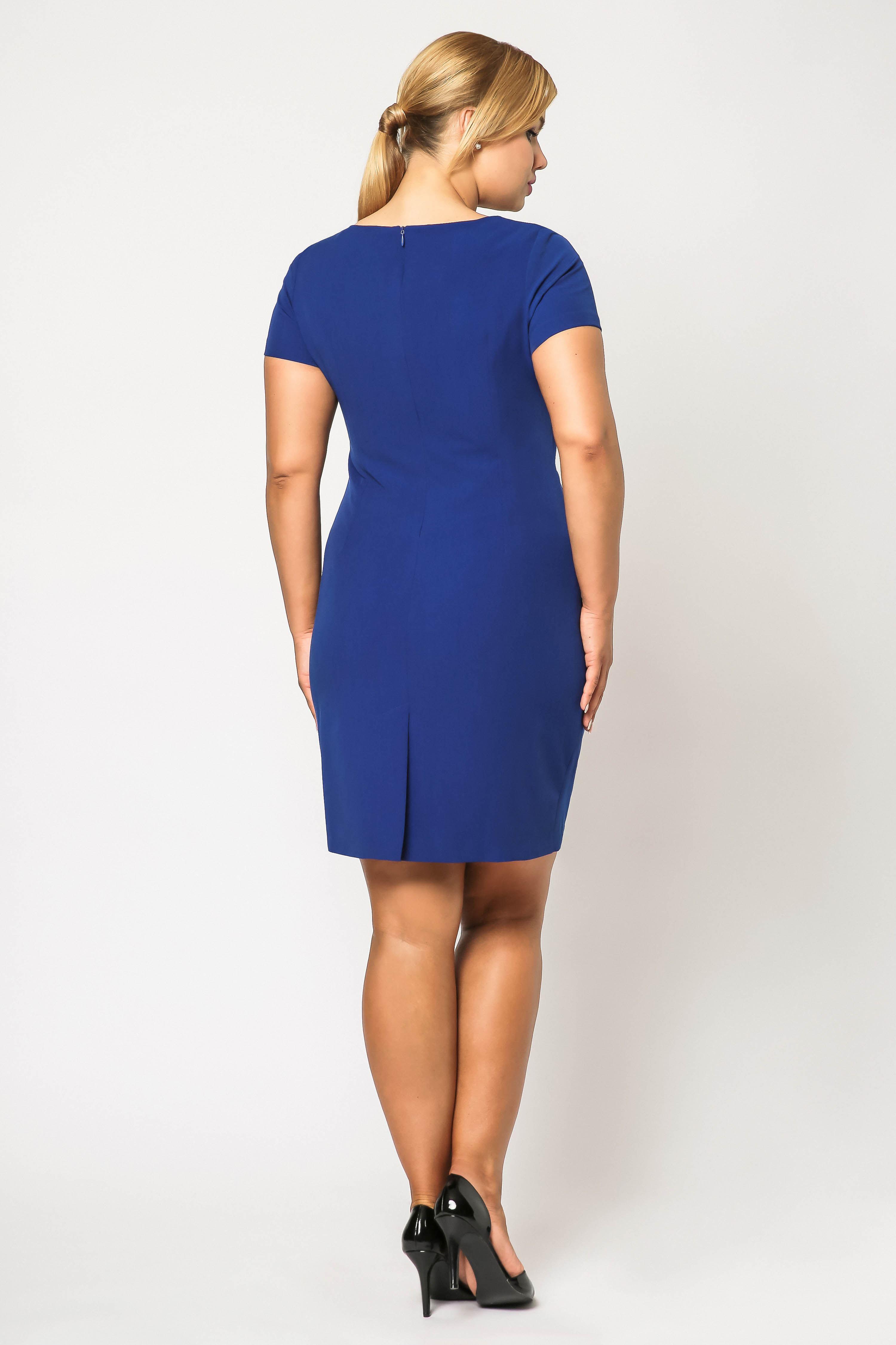 Rachel dress in cornflower blue