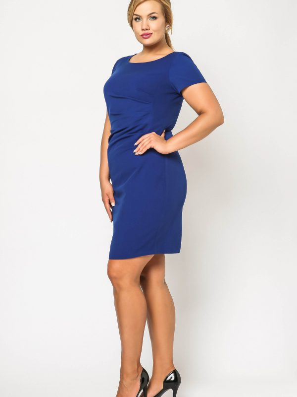 Rachel dress in cornflower blue