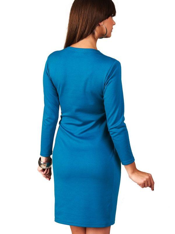 Rebeka dress in Parisian blue
