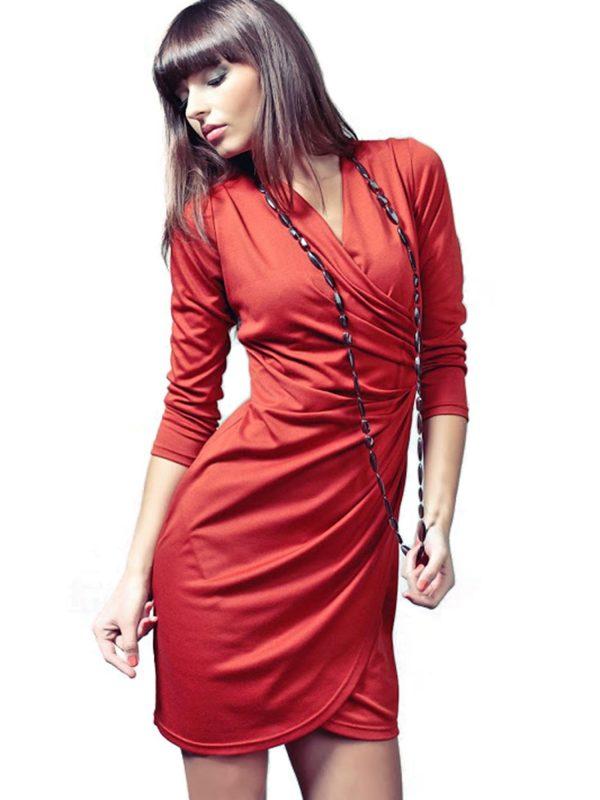 Sukienka Rebeka w kolorze rudym