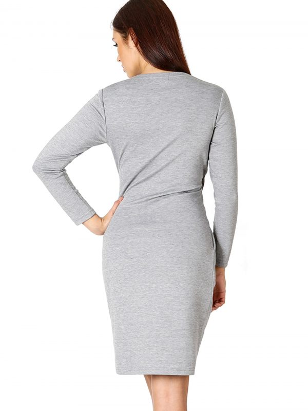 Rebeka Kleid in Grau