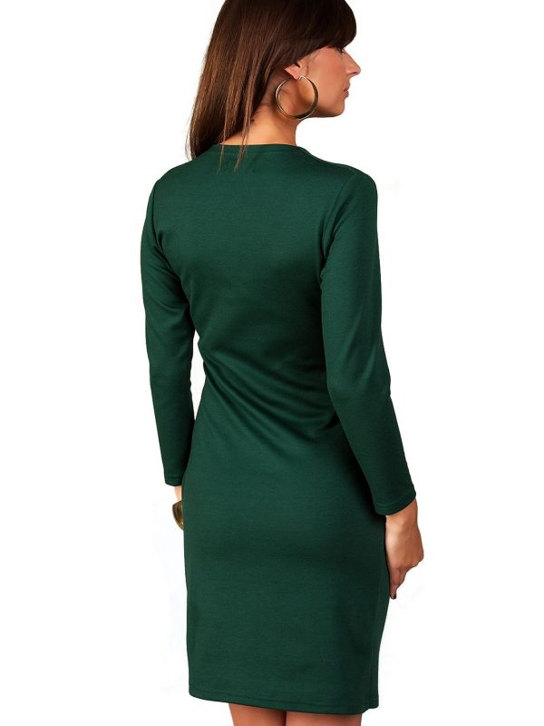 Rebeka dress in dark green